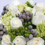 Enchanting White Rose and Hydrangea Bridal Flowers